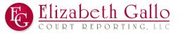 Elizabeth Gallo Court Reporting Logo